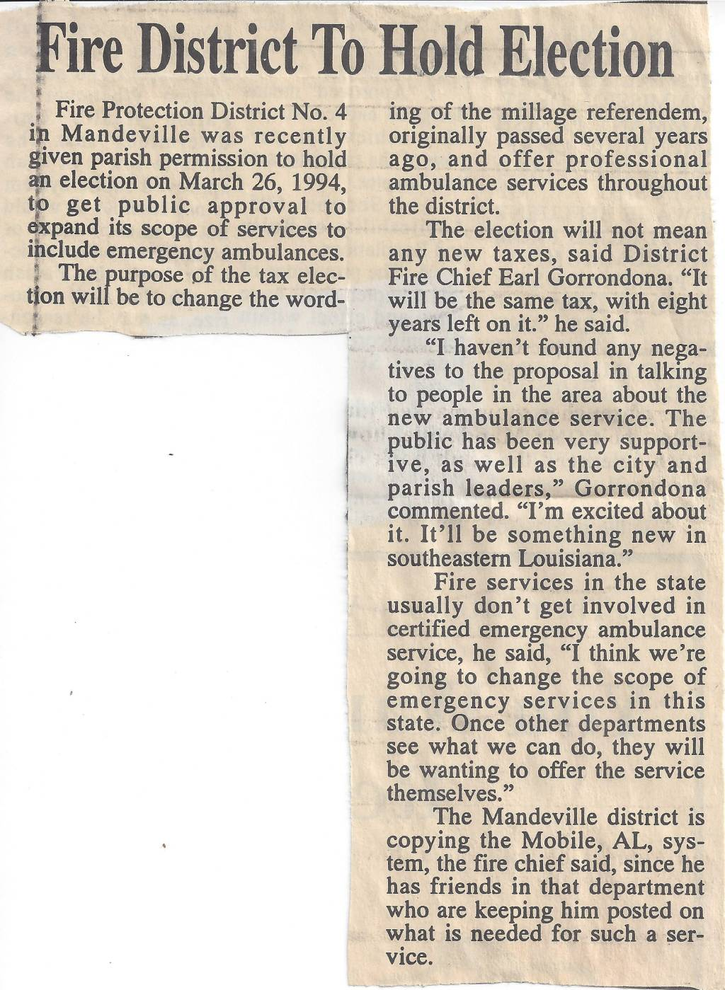 Is Fire District 4's Ambulance Service Self-funding