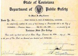 1956 Training Certificate