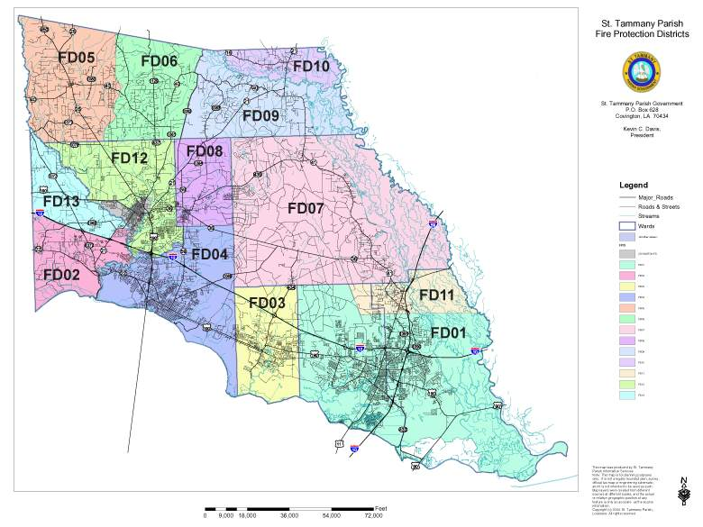 St.  Tammany Parish Fire District Map