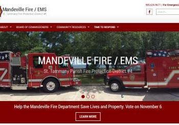 Mandeville Fire Website